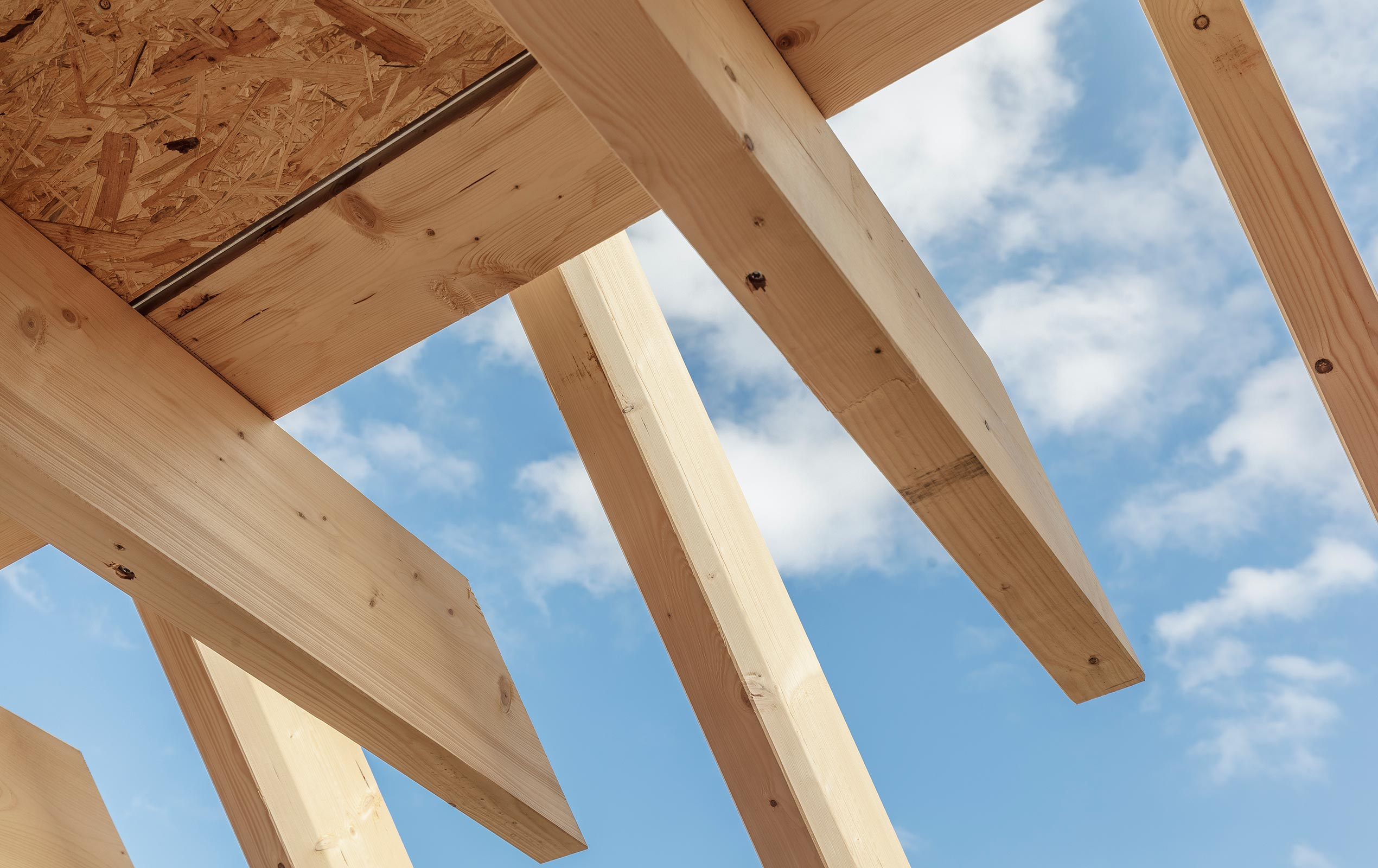 Dachstuhl gefertigt von der Zimmerei Karrer